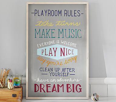 Playroom Rules Art #pbkids