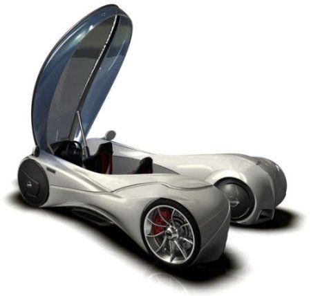un automóvil que usa la levitación magnética al igual que los trenes bala, como los que se encuentran en Japón.
