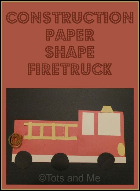 Tots and Me... Growing Up Together: Littles Learning Link Up: October 11, 2016 Craft Highlight- Shape Firetruck on Flame Painting #firetruck #preschool #preschoolcraft #homeschool #totschool #shapecraft #firesafety