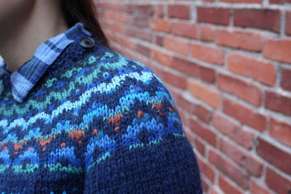 Handmade icelandic style women sweater