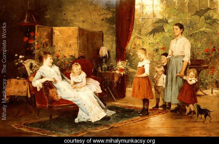 The Fete Of The Lady Of The Manor - Mihaly Munkacsy - www.mihalymunkacsy.org