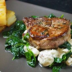 Ramsay's veal in creamy sauce
