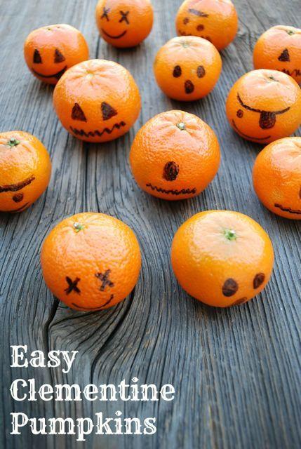 Clementine Pumpkins: Healthy Treats for Classroom Halloween Parties