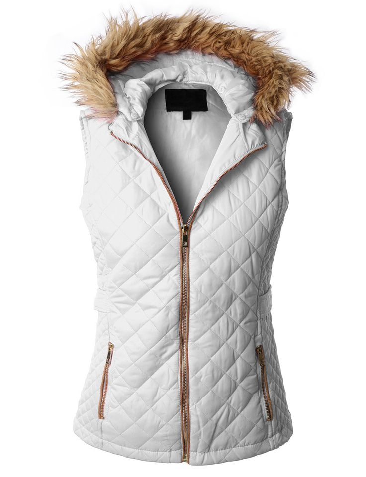 LE3NO Womens Quilted Puffer Jacket Vest with Detachable Hoodie - 218 Best WOMEN'S PUFFER JACKETS & VESTS Images On Pinterest
