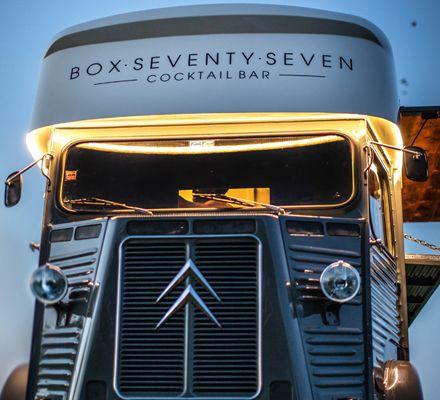Mobile Bar Hire | Vintage Cocktail Van | Pop Up Event BarsBox Seventy Seven Events Bars