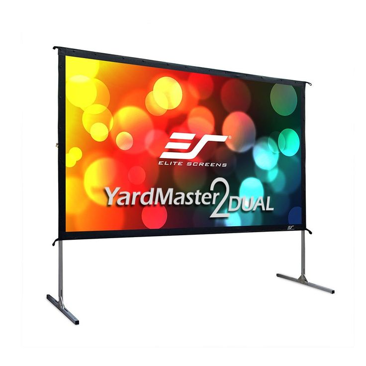 Elite Screens Yardmaster 2 Dual, 100-inch 16:9, Front / Rear 4K Ultra HD Ready Indoor / Outdoor Projector Screen OMS100H2-Dual