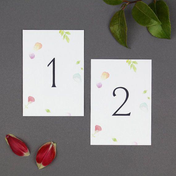 Amelia Wedding Table Numbers