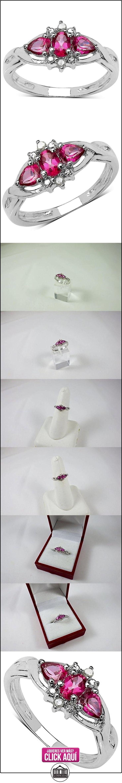 La Colección Anillo Topacio: Anillo de Plata de Topacio rosa con set Diamantes genuinos, perfecto para regalo anillo de compromiso talla del anillo 13,5  ✿ Joyas para mujer - Las mejores ofertas ✿ ▬► Ver oferta: https://comprar.io/goto/B018SK5QGG