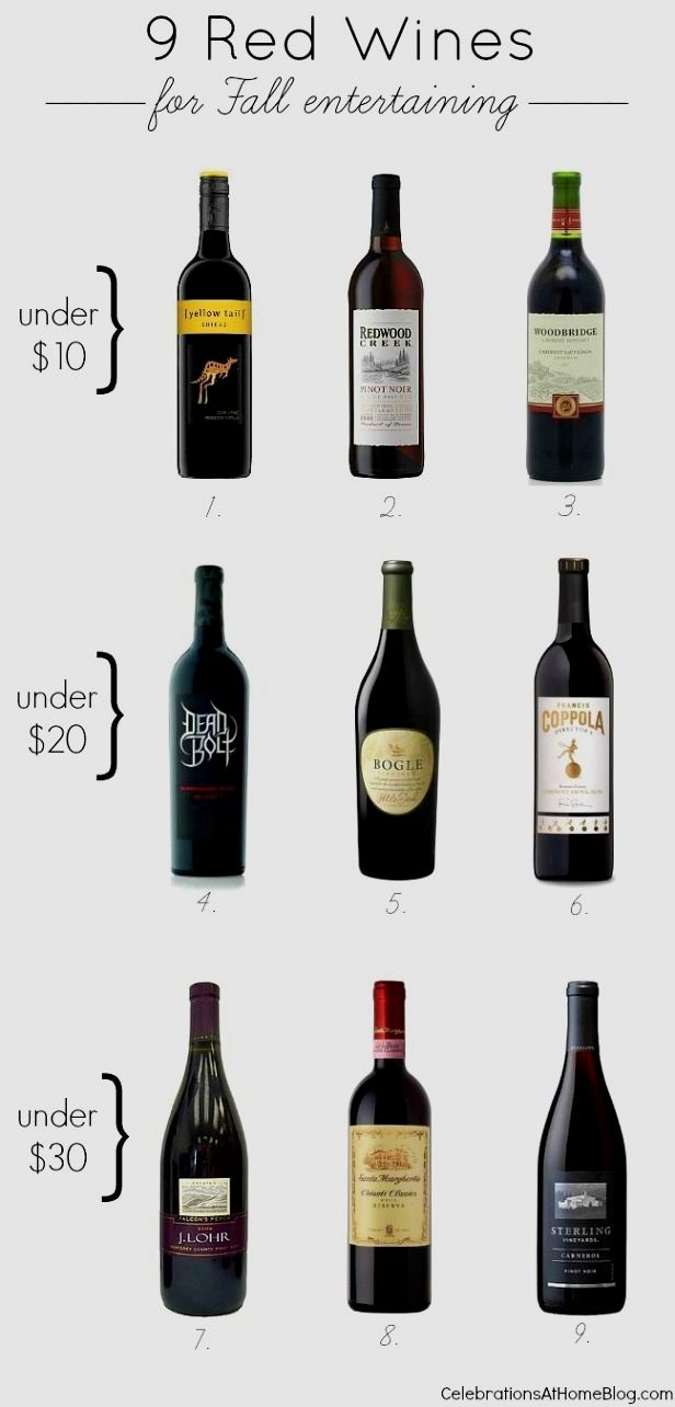 Wine serving & storage temperatures:: infographic.