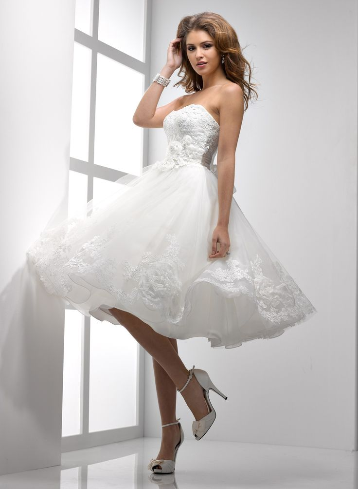 tea length dresses | ... Tea-length Ball Gown Wedding Dress - Wedding Dresses UK Online Shop