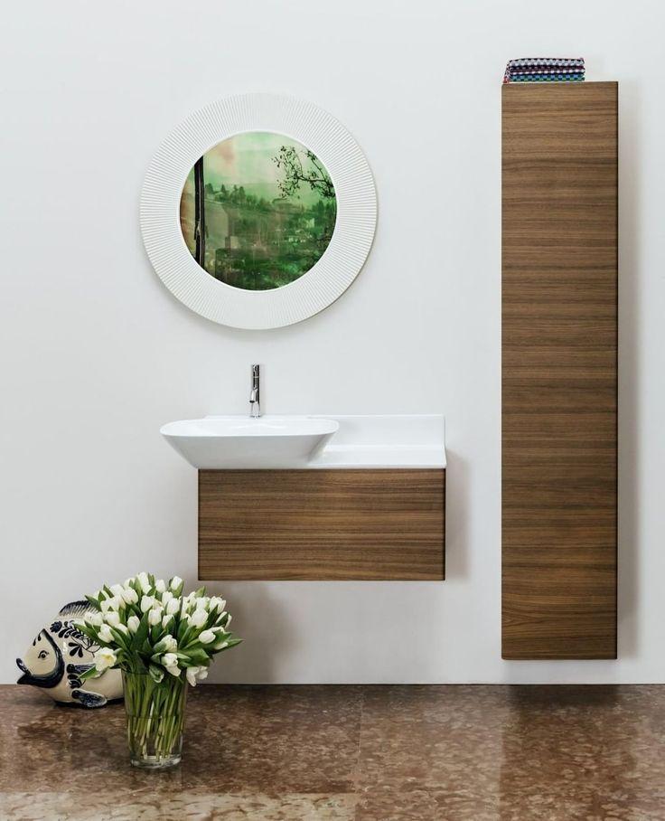 Diese Badmöbel bieten viel Stauraum und passen au…