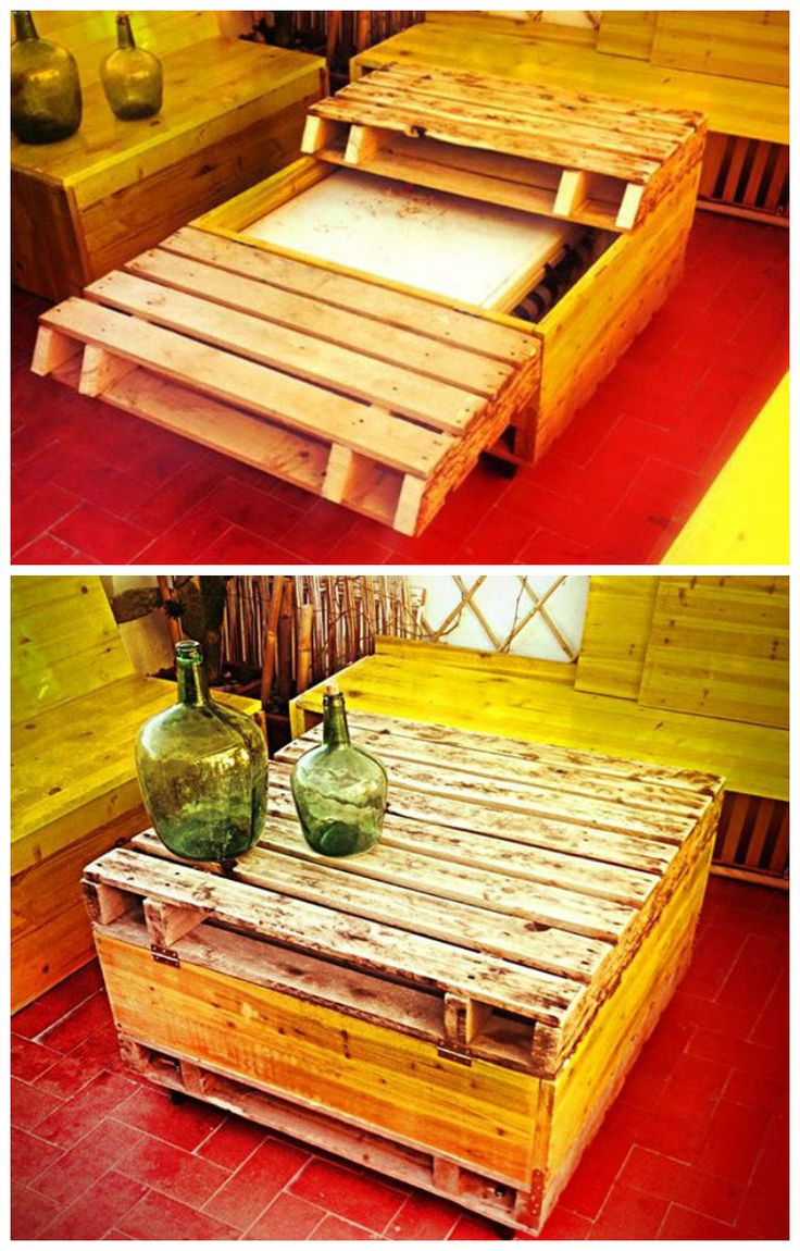 Recycled pallet table #PalletFurniture, #PalletTable, #Recycled