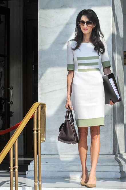 Amal Clooney gives the office shift dress new life| Vogue