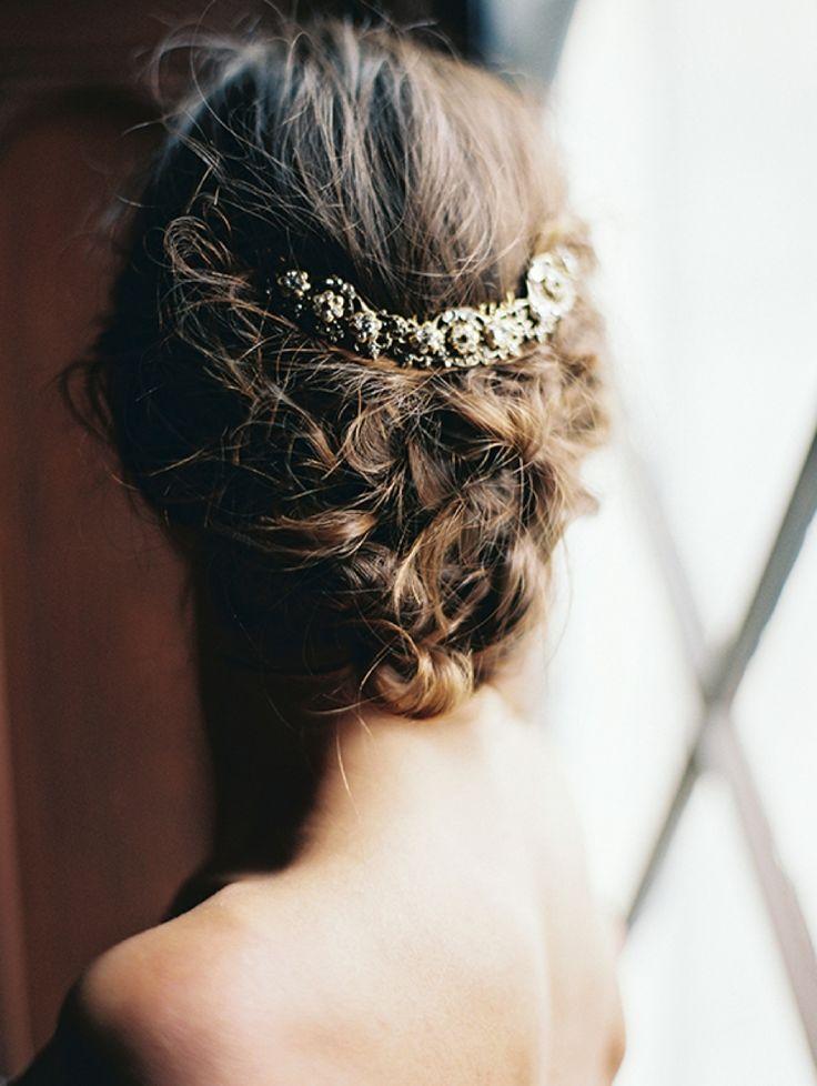 Bronze hair piece for bride   Liv Hart 2016 Collection via @FlyAwayBride