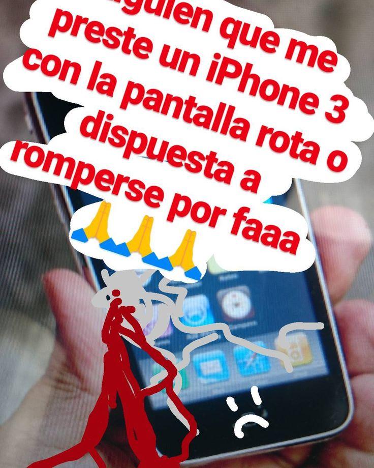 #Valparaiso Alguien que me preste un #iPhone3 con la pantalla rota o dispuesta a romperse por faaaa