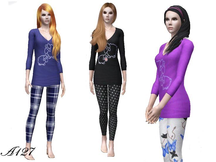 My Sims 3 Blog: Funny Pajamas by Altea127