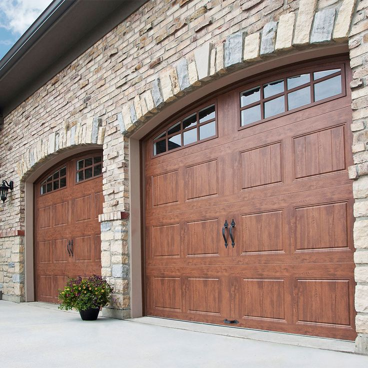 69 best wood look garage doors without the upkeep images for Best wood for garage doors
