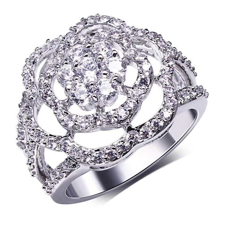 Trending Find More Rings Information about Latest Fashion Flower Wedding Ring for Women Tone k Wedding Rings Rose GoldCheap