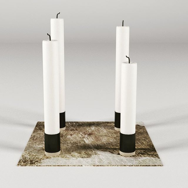 Candle holder concept from Danish/Polish Kosmonaut