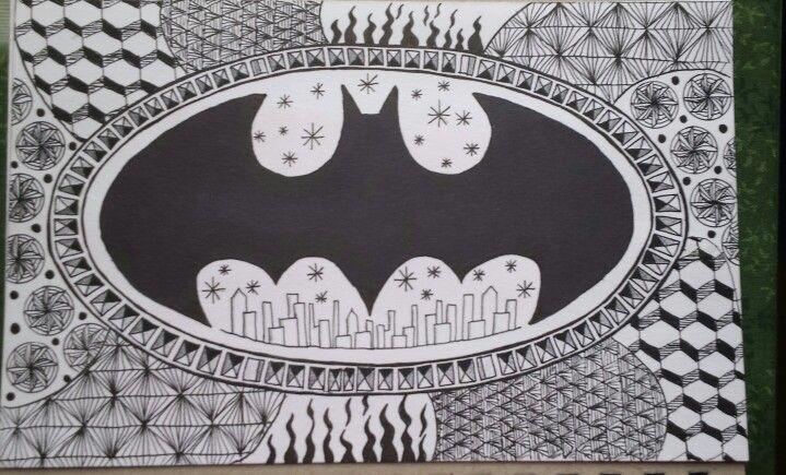 Batman Zentangle Art... for a friend