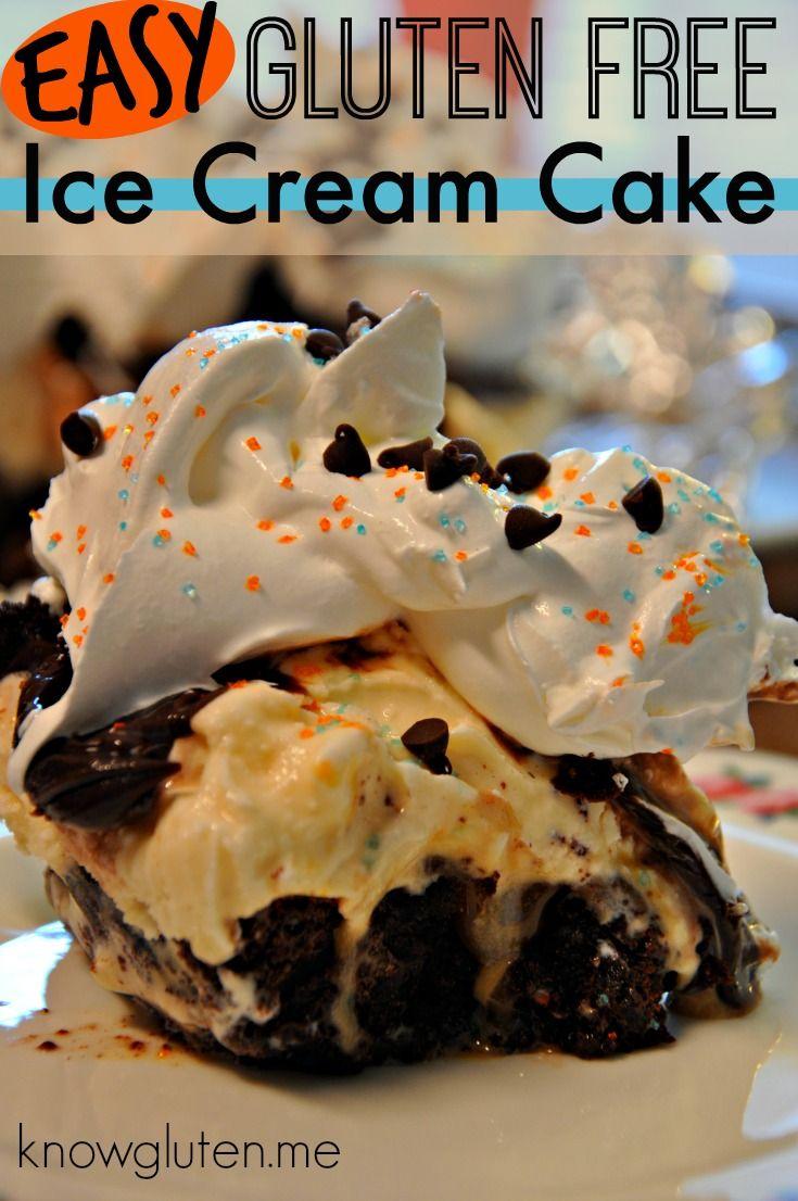 Easy Gluten Free Ice Cream Cake from Knowgluten.me