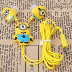 $2.07 Brand New Despicable Me The Minion Style 3.5mm Universal Earphone for Various Cellphones