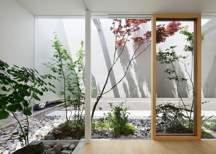 Green Edge House by mA-style Architects has a hidden garden around its perimeter