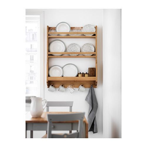 GAMLEBY Wall shelf  - IKEA -- books and hangers for blankets or baby clothes to display, endless options!