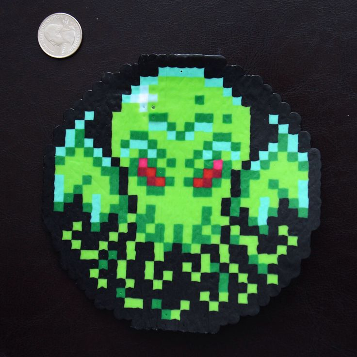 8 bit pixel art cthulhu christmas ornament d coration de for 8 bit decoration