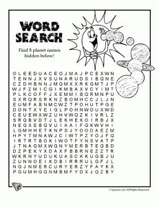 Solar System Projects - science projects, language arts projects & vocabulary projects - all printable