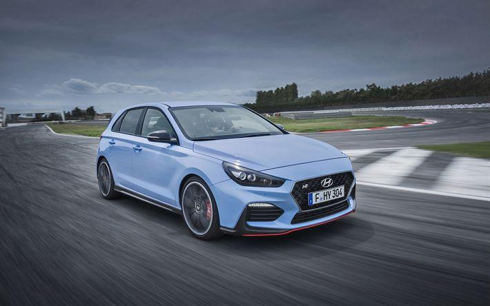 Scarica sfondi Hyundai i30 N, 2018, Tuning i30, la nuova i30, pista da corsa, versione racing, Hyundai