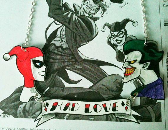 Batman Harley Quinn and The Joker Mad Love by RockabillyBabyShop