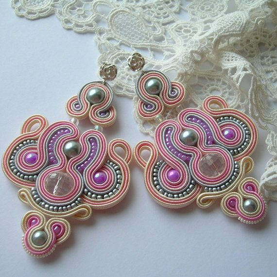 Candy shop soutache earrings jewelry for gift Dangle by Savvanah, $82.00