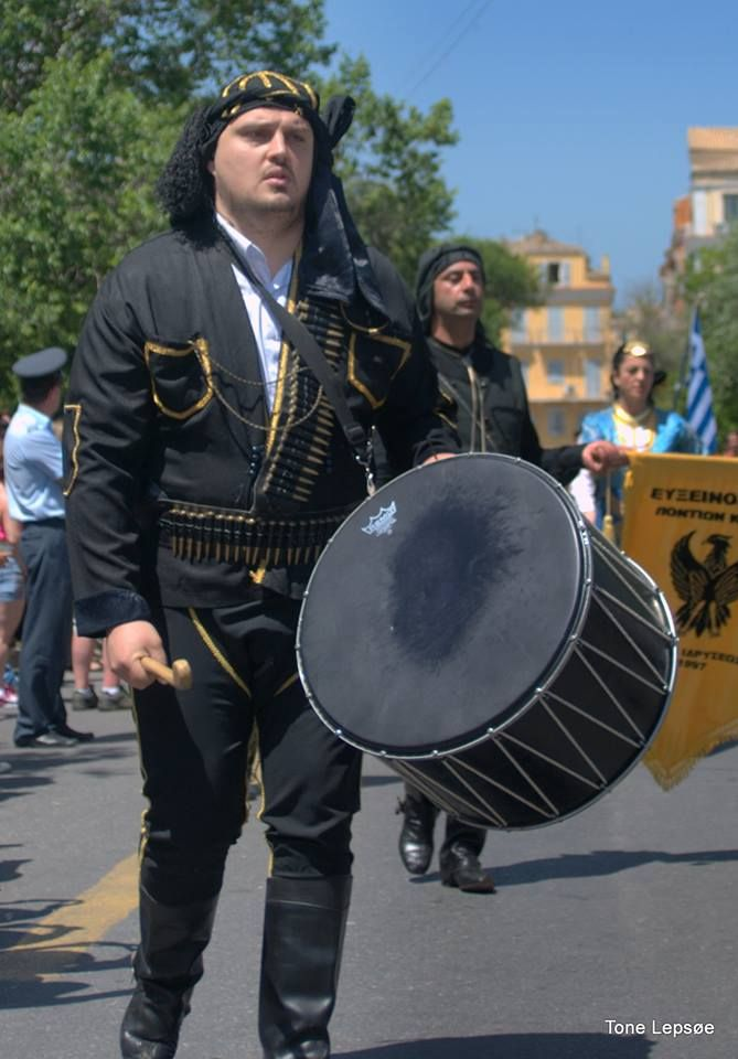 Parade. Celebrating Corfu became part of Greece. Corfu Old town 21 may 2014. Greece. TONE LEPSOES PICTURES.