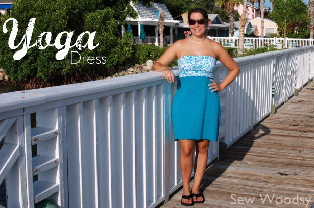 {Tutorial} Strapless Yoga Dress | Sew Woodsy.. start and finish in one night!