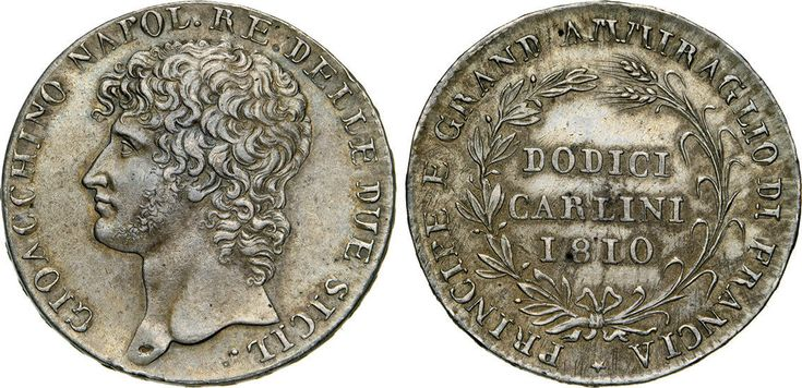 NumisBids: Numismatica Varesi s.a.s. Auction 65, Lot 498 : NAPOLI - GIOACCHINO MURAT (1808-1815) 12 Carlini 1810. P.R. 2 ...