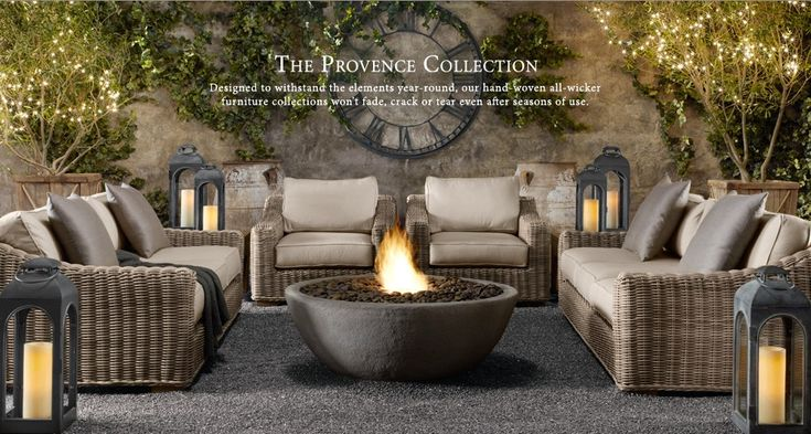 AWESOME outdoor room!  Compliments of Restoration Hardware