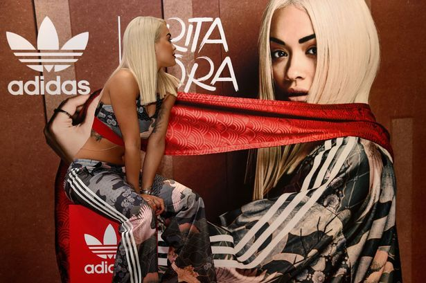 Rita Ora's collection is also featured in the Adidas outlet sale reductions