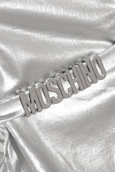 Moschino - Cutout Metallic Swimsuit - Silver - 2