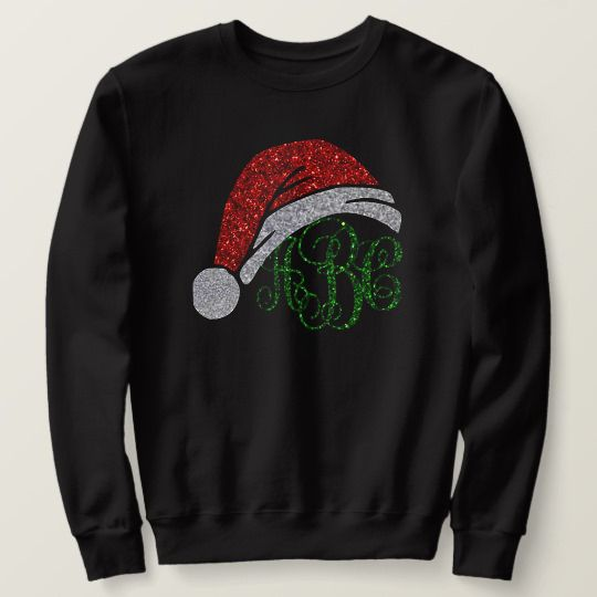 Monogram Christmas Custom Sweatshirts