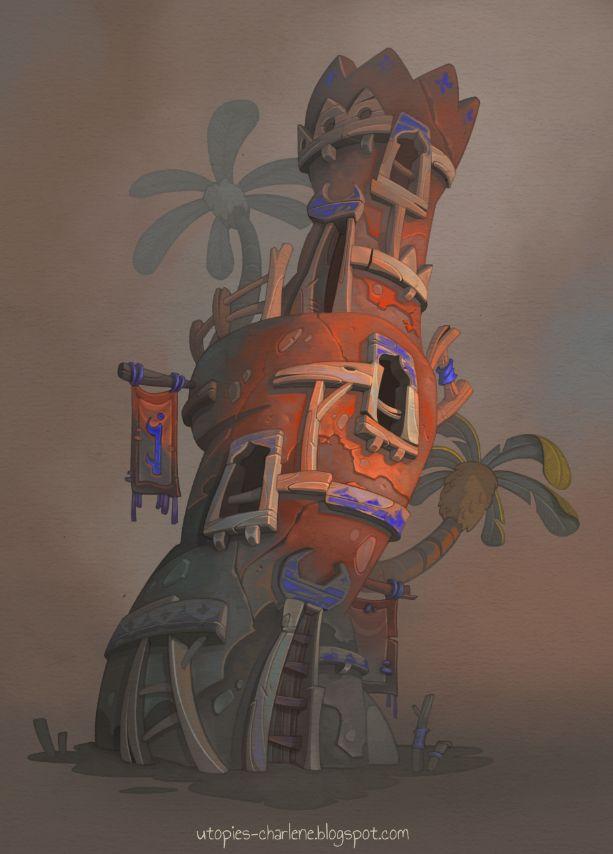 Sunset Tower by Catell-Ruz on DeviantArt
