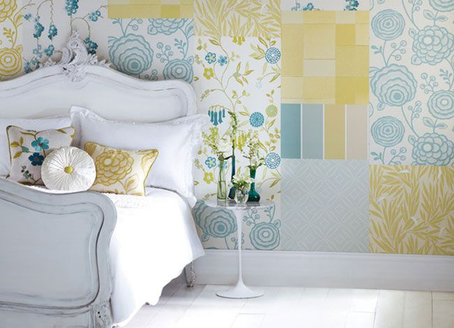 Mix and Match wallpapers from Harlequin Delphine collection.
