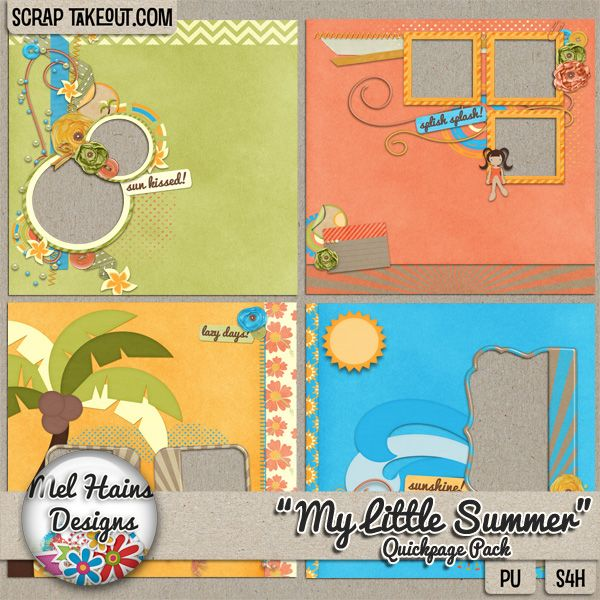 """""""My Little Summer"""" Quickpages for quick scrapping"""