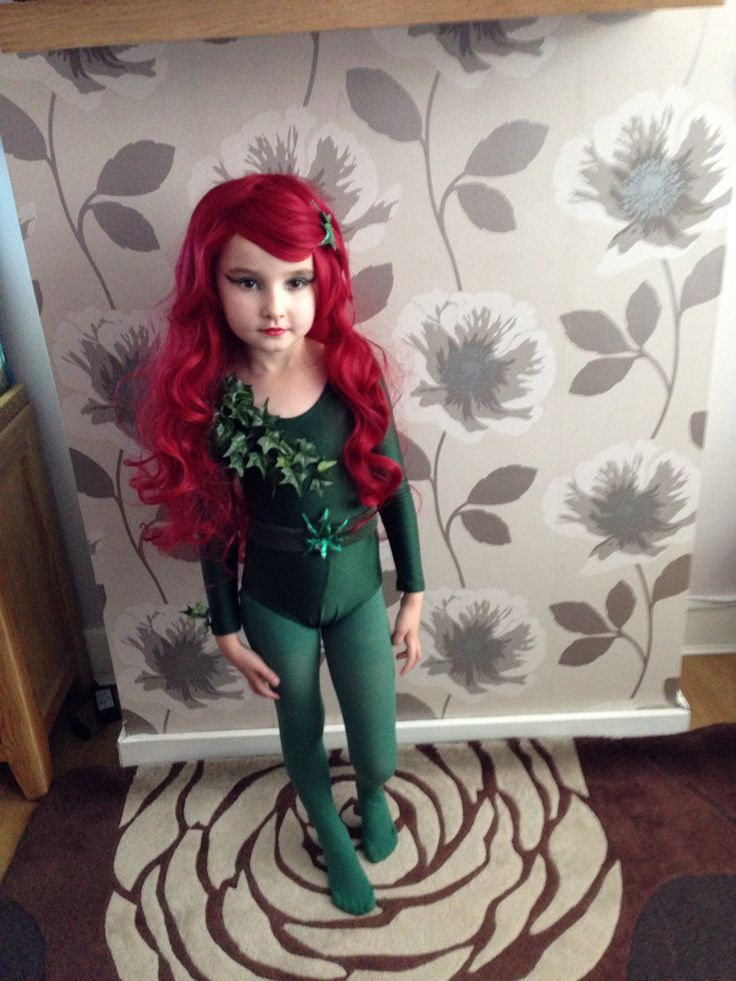 Poison Ivy homemade childrens Halloween costume