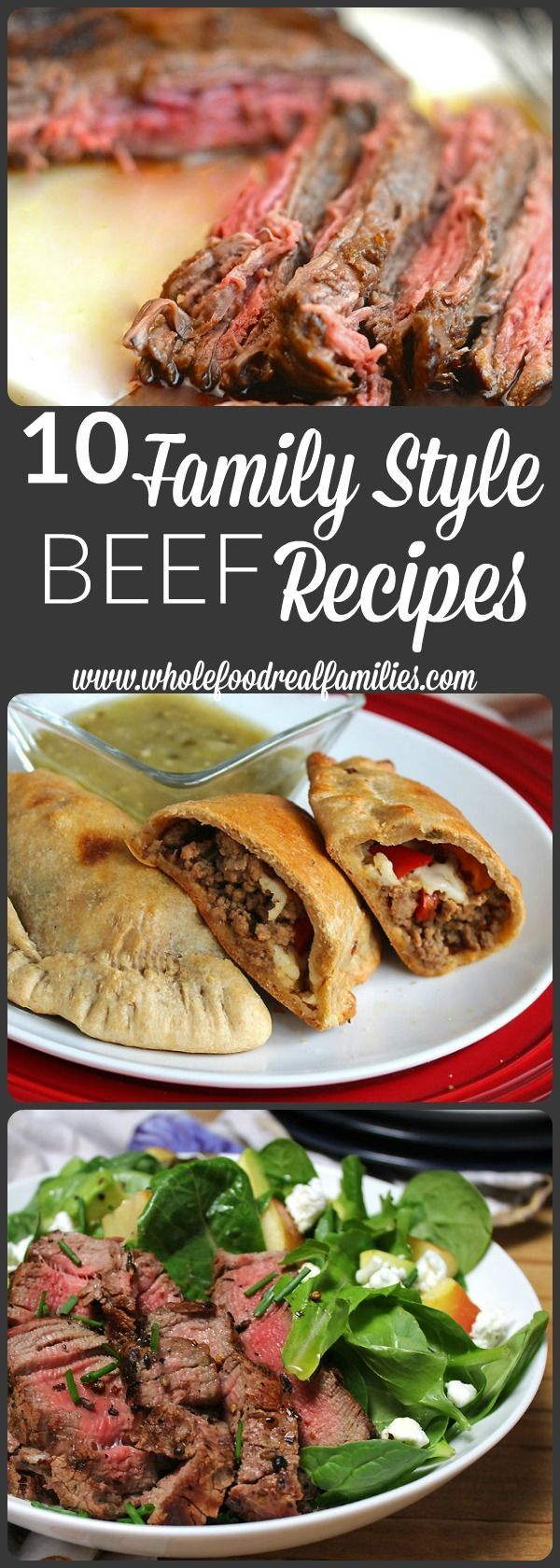 10 Family Style Beef Recipes that will make your mouth water. There is a recipe here for everyone, whether you are looking for a great burger, steak or ribs, these recipes will have your mouth watering and your family asking from more. @beeffordinner