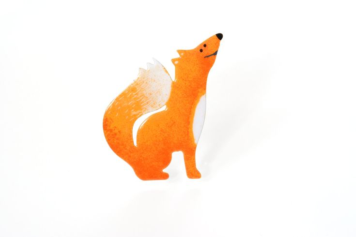 Enamel Fox Pin, Stainless Steel Pin, Animal Pin, Fox Brooch, Enamel Pin, Animal Brooch, Fox Badge, Animal Badge, Woodland Pin, Foxy Lady by CinkyLinky on Etsy
