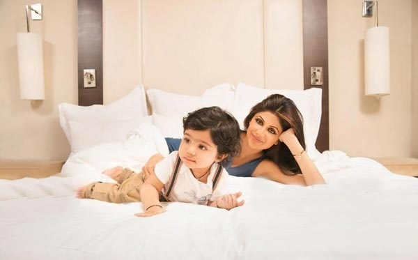 Shilpa Shetty with her cute son Viaan.