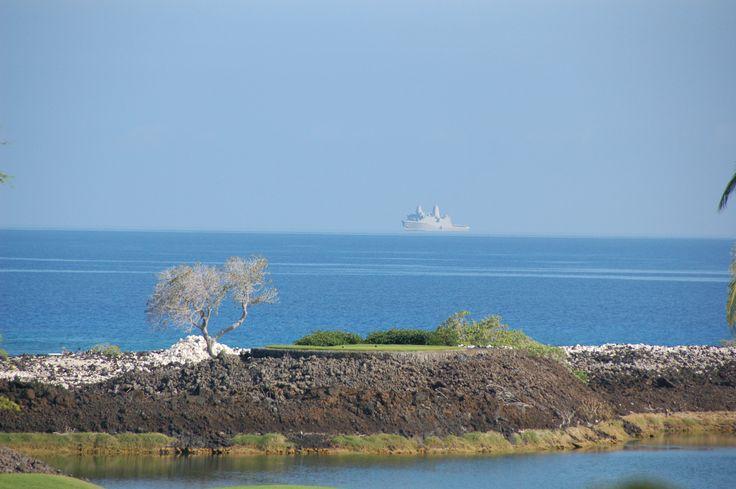 The Fata Morgana (floating ship) mirage