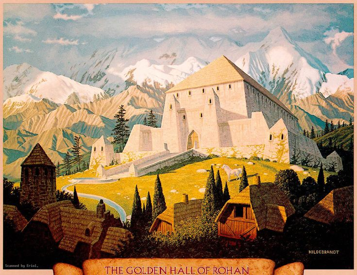 Lord Of The Rings The Golden Hall Of Rohan