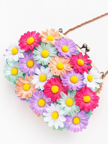 flower purse. Not to use, but to look.